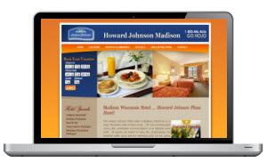 Screen Capture of a Hotel website in Madison Wisconsin