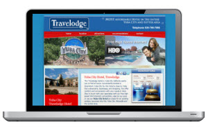 Screen Capture of a Hotel website in Yuba CIty